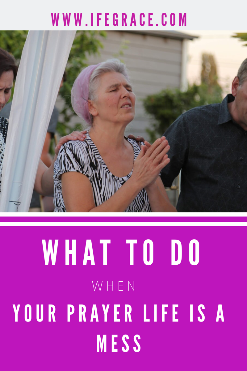 What do you do when you find it difficult to maintain a consistent prayer life.